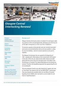 Glasgow Central Interlocking Renewal Approved