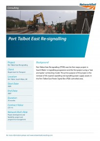 Port Talbot East Re signalling PTER