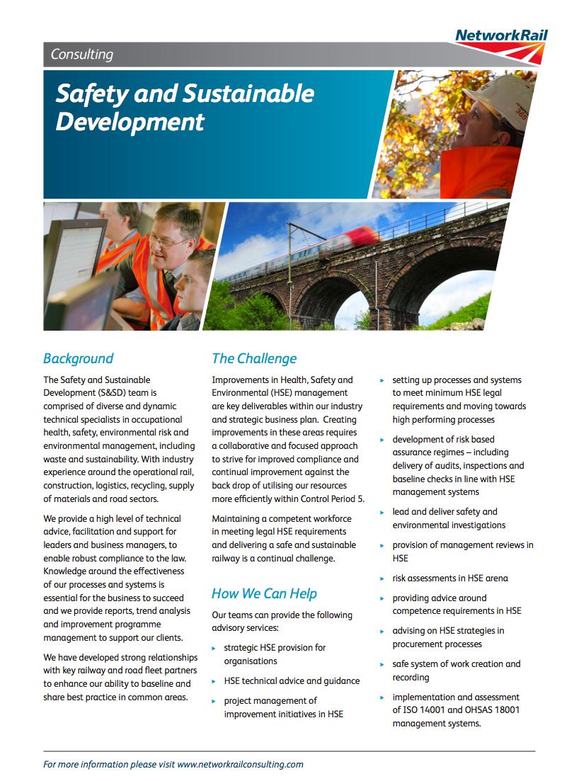 Safety and Sustainable Development publication
