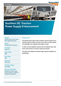 Southern DC Traction Power Supply Enhancement