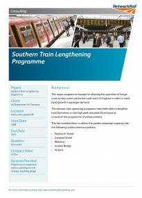 Southern Train Lengthening Programme