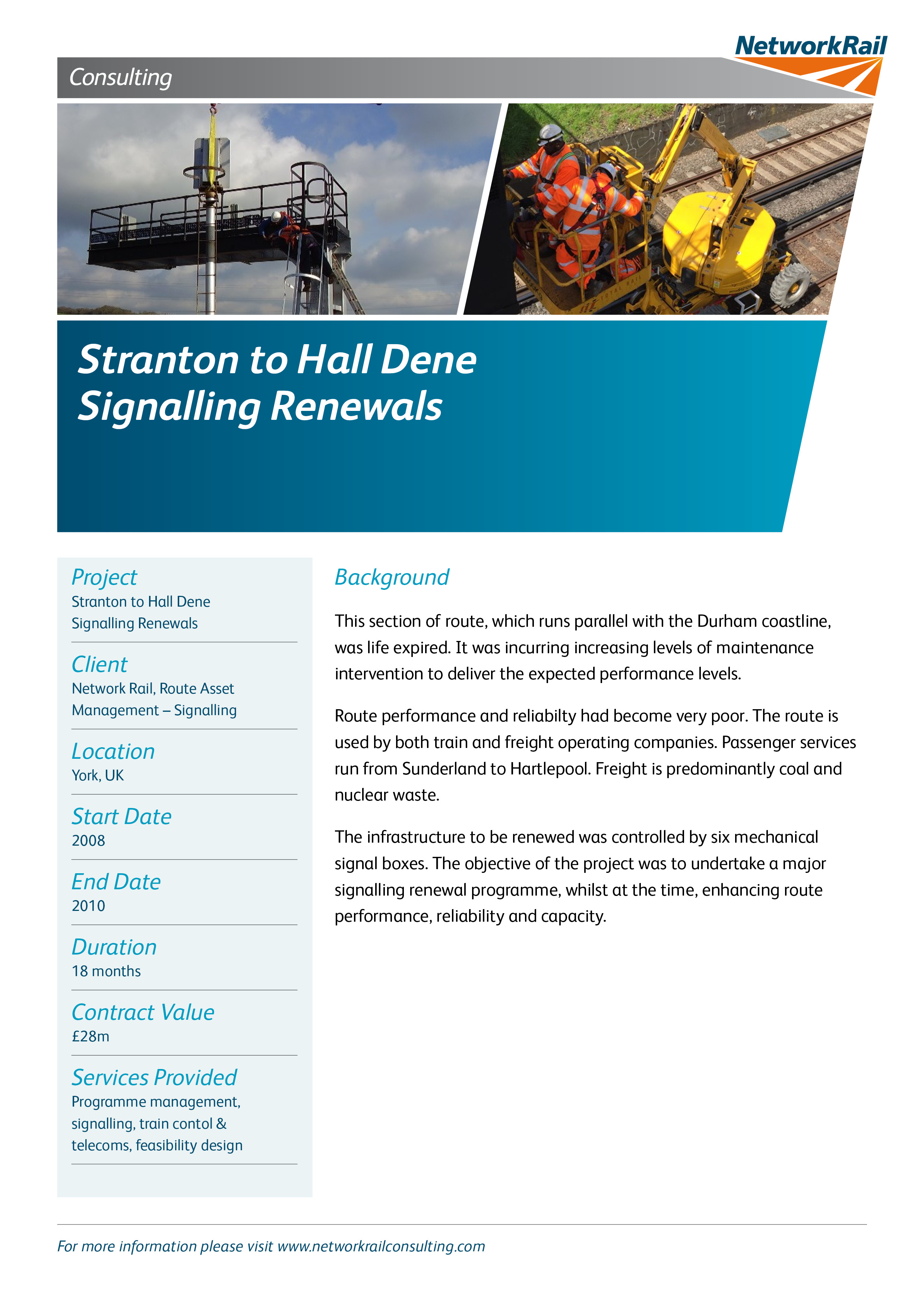 Stranton to Hall Dene Signalling Renewals Approved